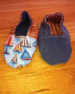 Blue Suede Sailboat Reversible 3-6mo
